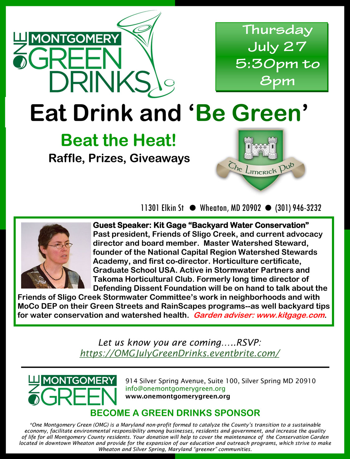 One Montgomery Green July 2017 GreenDrinks